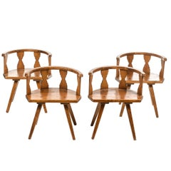 Set of Four Armchairs, Courchevel Palace, French Alps