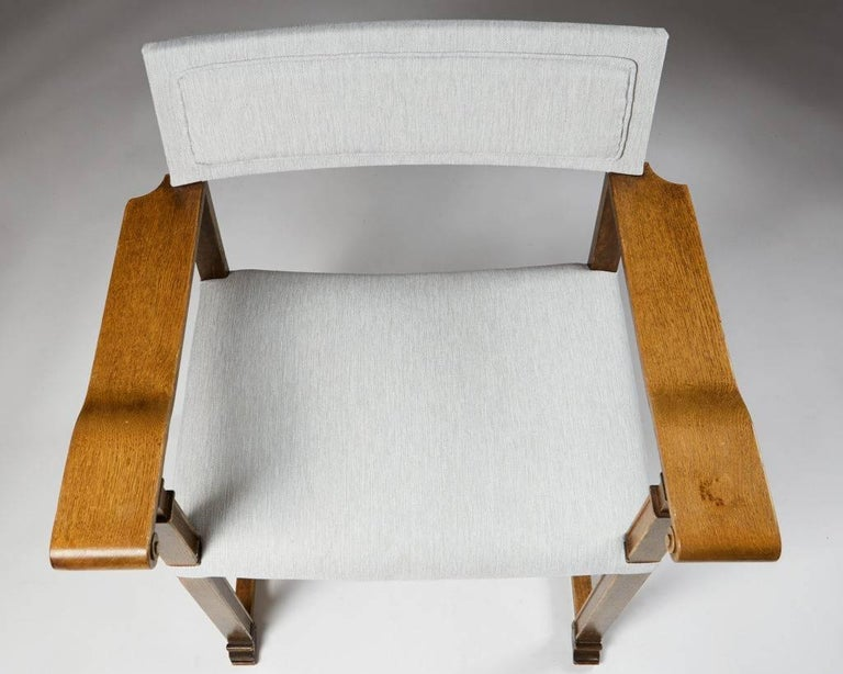 Set of Four Armchairs Designed by Carl Bergsten, Sweden, 1920s For Sale 3