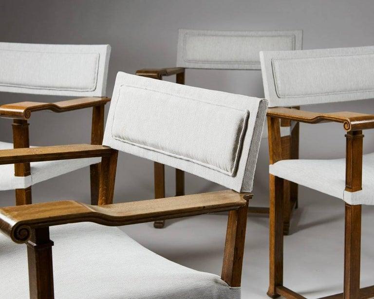 Scandinavian Modern Set of Four Armchairs Designed by Carl Bergsten, Sweden, 1920s For Sale