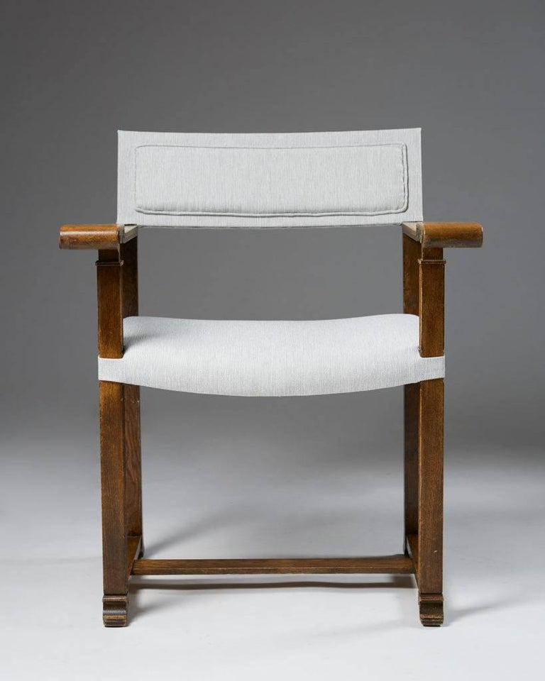 Swedish Set of Four Armchairs Designed by Carl Bergsten, Sweden, 1920s For Sale