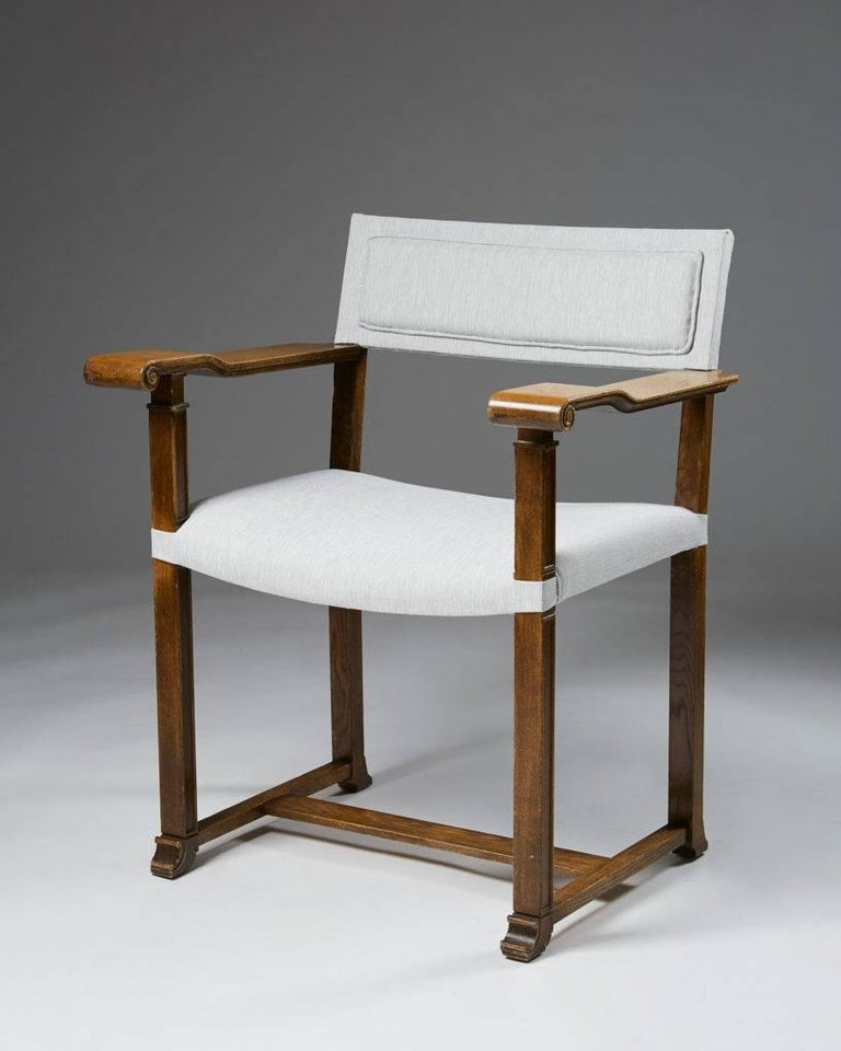 Set of Four Armchairs Designed by Carl Bergsten, Sweden, 1920s In Good Condition For Sale In Stockholm, SE