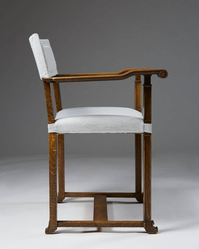 Early 20th Century Set of Four Armchairs Designed by Carl Bergsten, Sweden, 1920s For Sale