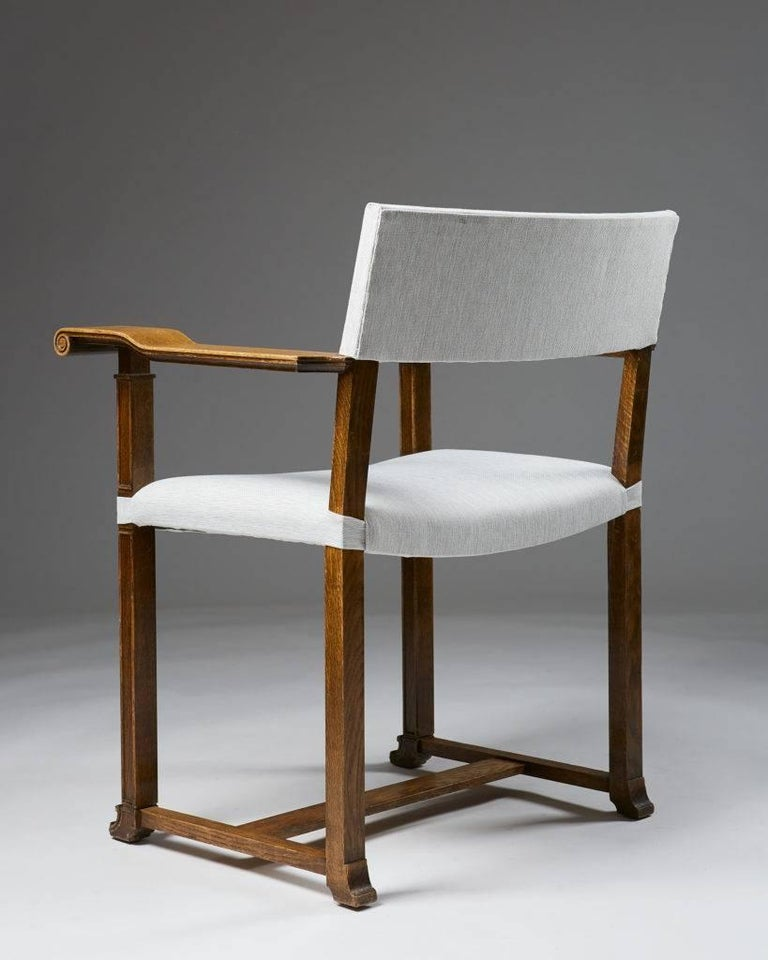 Set of Four Armchairs Designed by Carl Bergsten, Sweden, 1920s For Sale 1