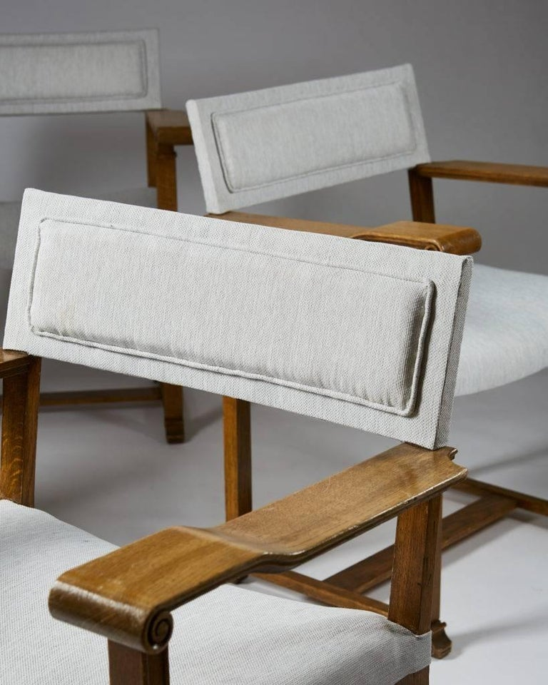 Set of Four Armchairs Designed by Carl Bergsten, Sweden, 1920s For Sale 2