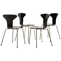 Set of Four Arne Jacobsen for Fritz Hansen 3105 Dining Chairs