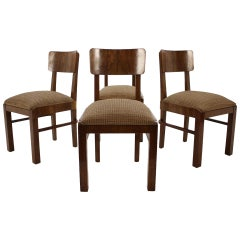 Set of Four Art Deco Chairs, 1930s