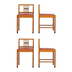 Set of Four Art Deco Chairs