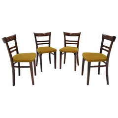 Set of Four Art Deco Dining Chairs by Fischel, 1930s