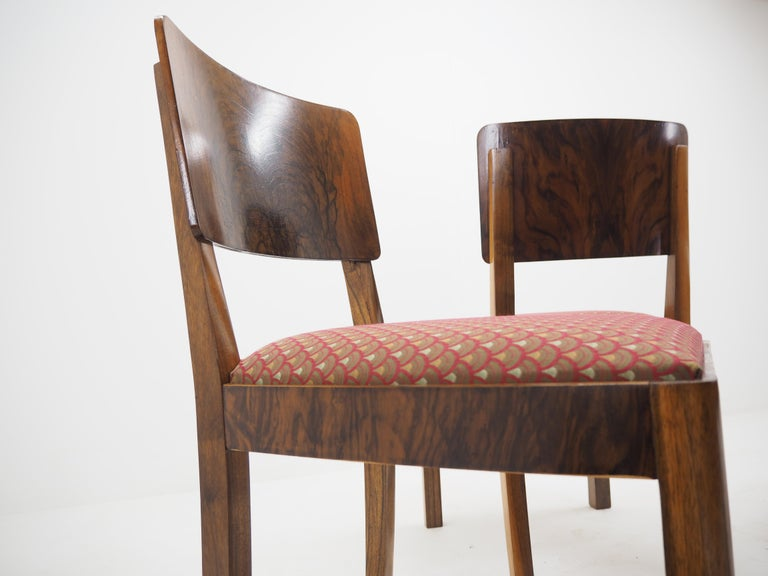 Set of Four Art Deco Dining Chairs, Czechoslovakia, 1930s For Sale 8