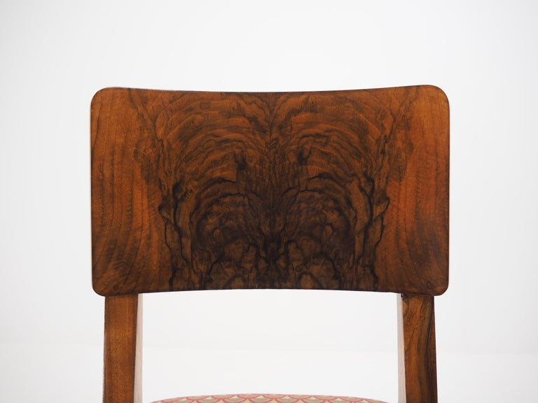 European Set of Four Art Deco Dining Chairs, Czechoslovakia, 1930s For Sale