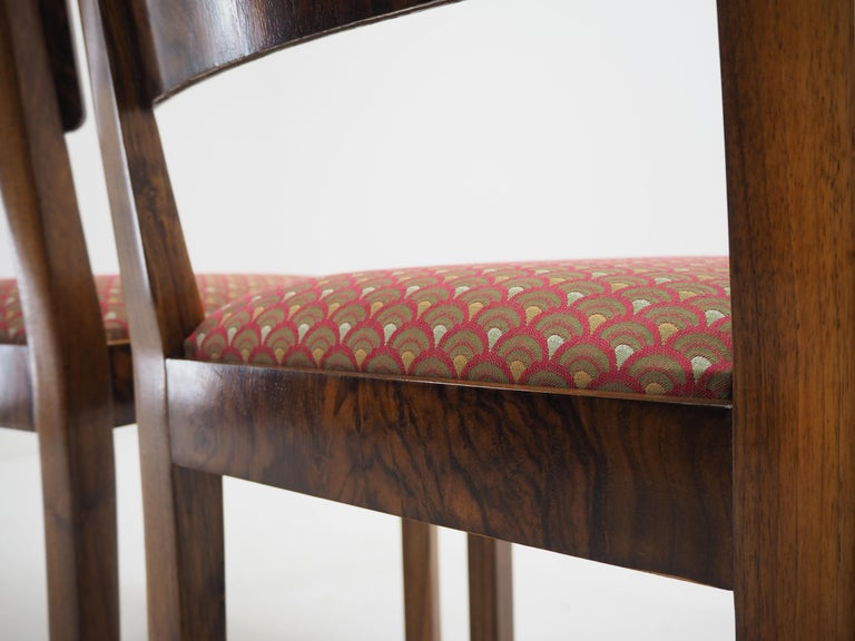 Set of Four Art Deco Dining Chairs, Czechoslovakia, 1930s For Sale 1