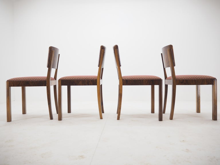 Set of Four Art Deco Dining Chairs, Czechoslovakia, 1930s For Sale 2