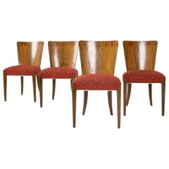 Set of Four Art Deco Dining Chairs H-214 Designed by Jindrich Halabala for Up Zá