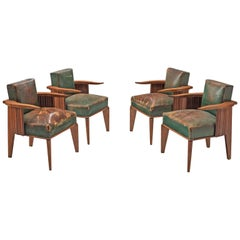 Set of Four Art Deco French Dining Chairs