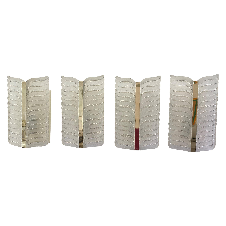Set of Four Art Deco Revival Wall Scones