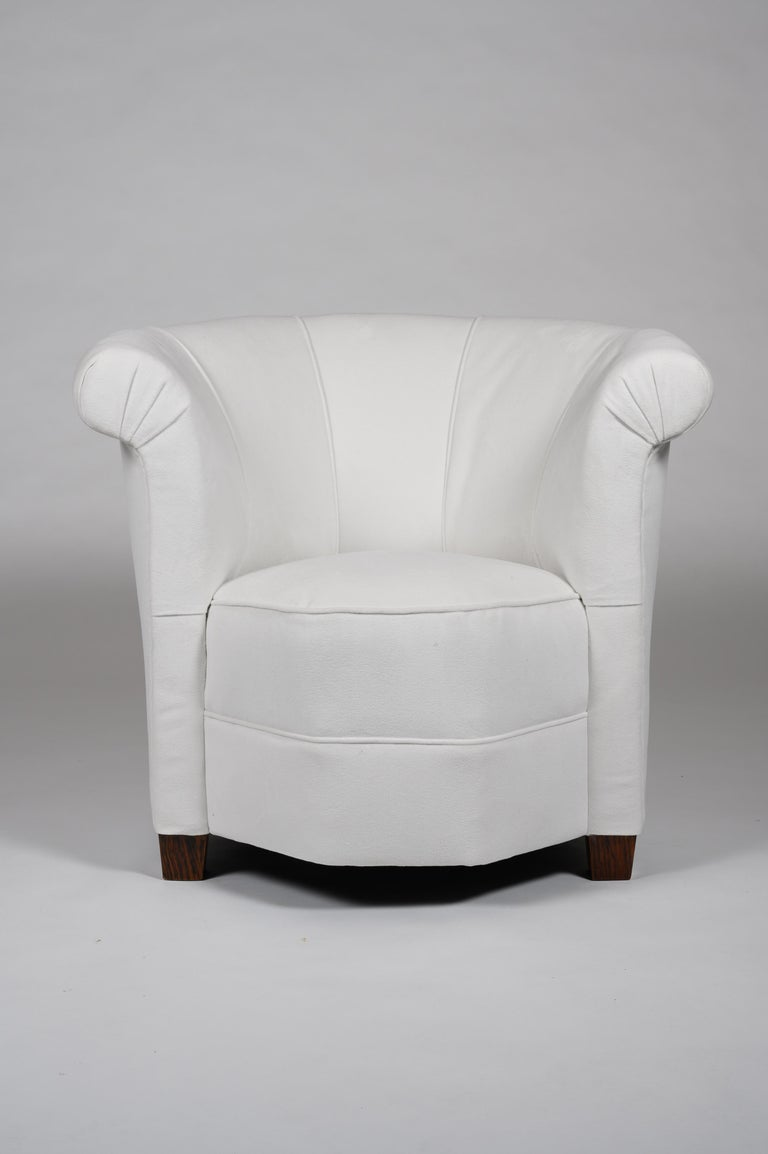 Set Of Four Art Deco Shaped Tub Armchairs For Sale At 1stdibs