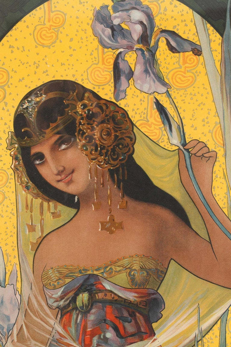 Set of Four Art Nouveau Decorative Panels by Mary Golay In Good Condition For Sale In Paris, FR