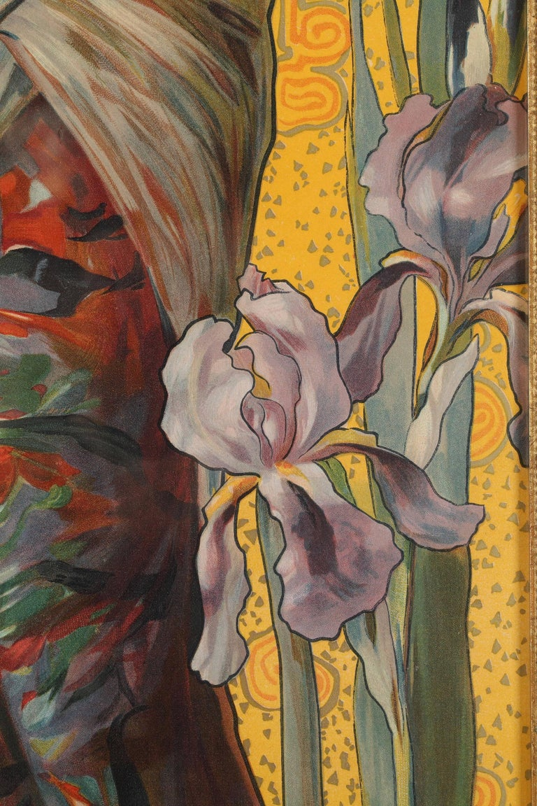 Paper Set of Four Art Nouveau Decorative Panels by Mary Golay For Sale