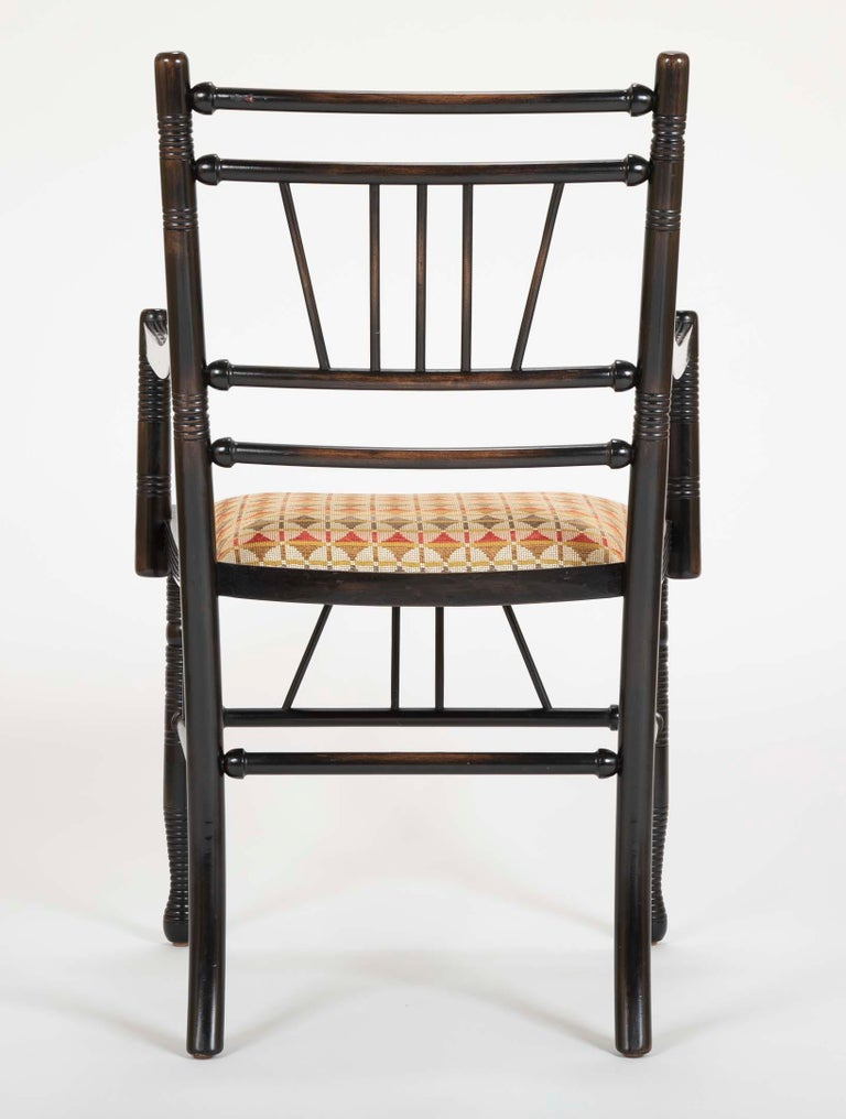 Set of Four Arts & Crafts Style Chairs In The Manner of E. W. Godwin For Sale 5