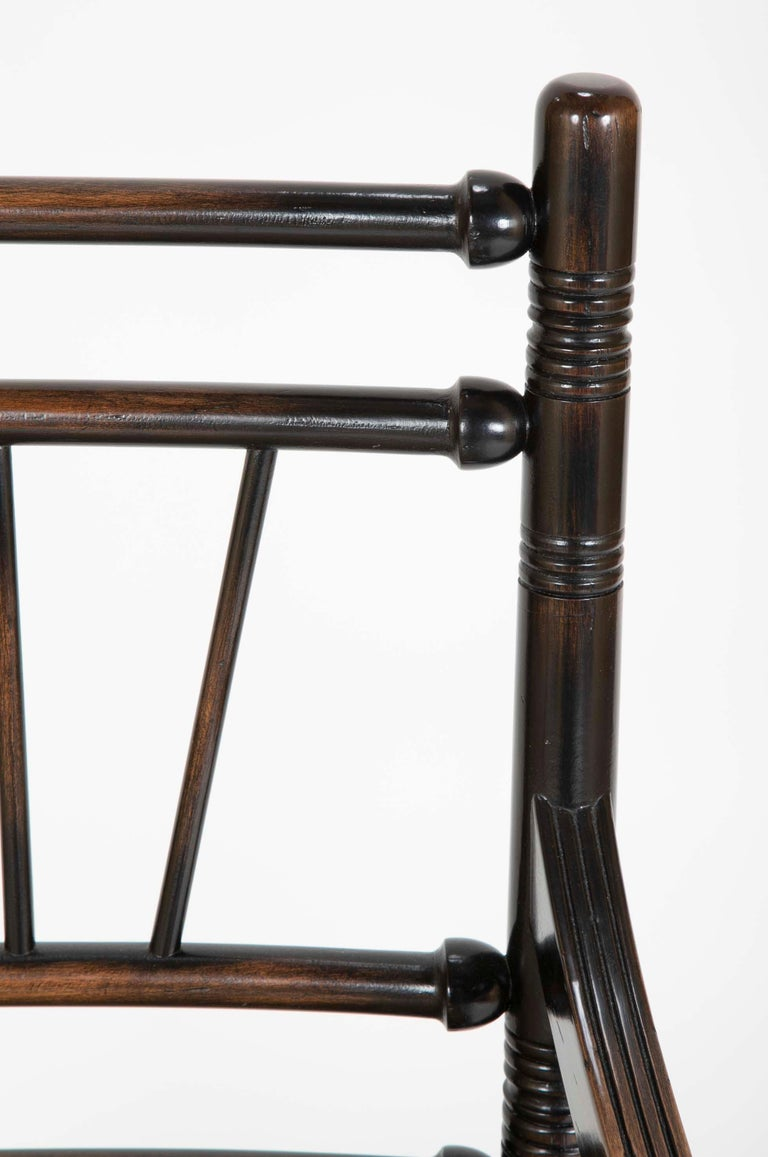 Set of Four Arts & Crafts Style Chairs In The Manner of E. W. Godwin For Sale 1