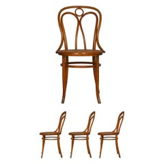 "Set of Four Austrian Bentwood Vintage ""Angel Chairs"" No. 36 by Josef Kohn"