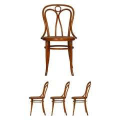 "Set of Four Austrian Bentwood Vintage ""Angel Chairs"" No. 36 by Josef Kohn"
