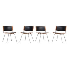 Set of Four 'Badminton' Dining Chairs by Nanna Ditzel, Danish Chairs, 1960s