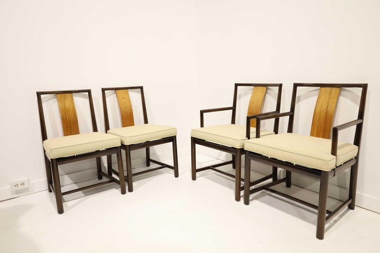 Mid-Century Modern Set of Four Baker Dining Chairs For Sale