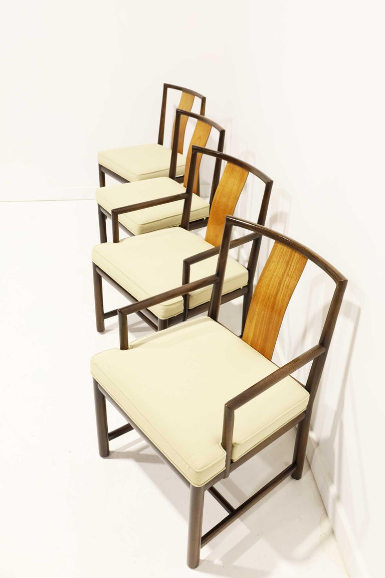 North American Set of Four Baker Dining Chairs For Sale