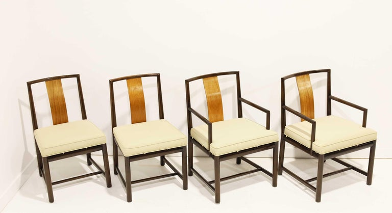 Set of Four Baker Dining Chairs In Good Condition For Sale In Dallas, TX