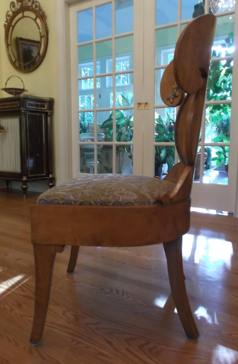 Neoclassical Set of Four Baltic Empire Chairs For Sale