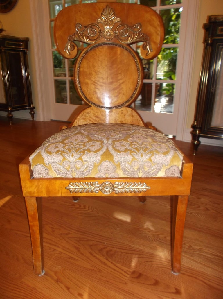 Set of Four Baltic Empire Chairs In Excellent Condition For Sale In Lambertville, NJ