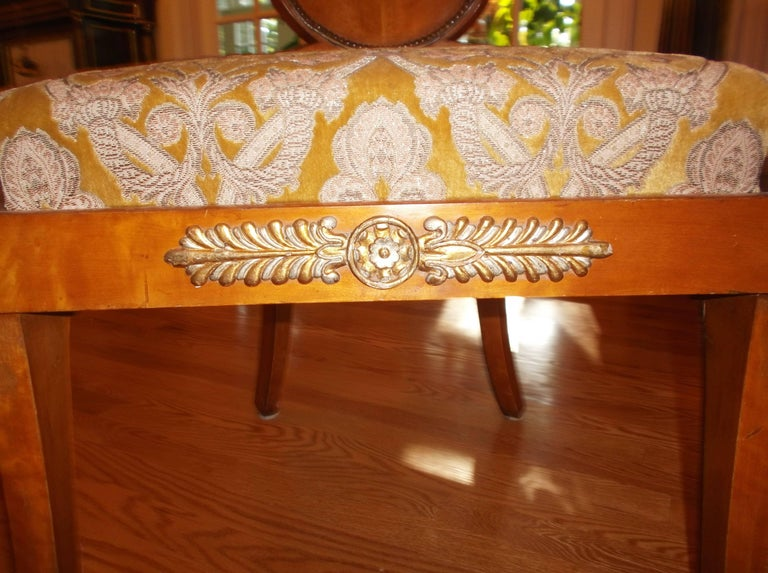 19th Century Set of Four Baltic Empire Chairs For Sale