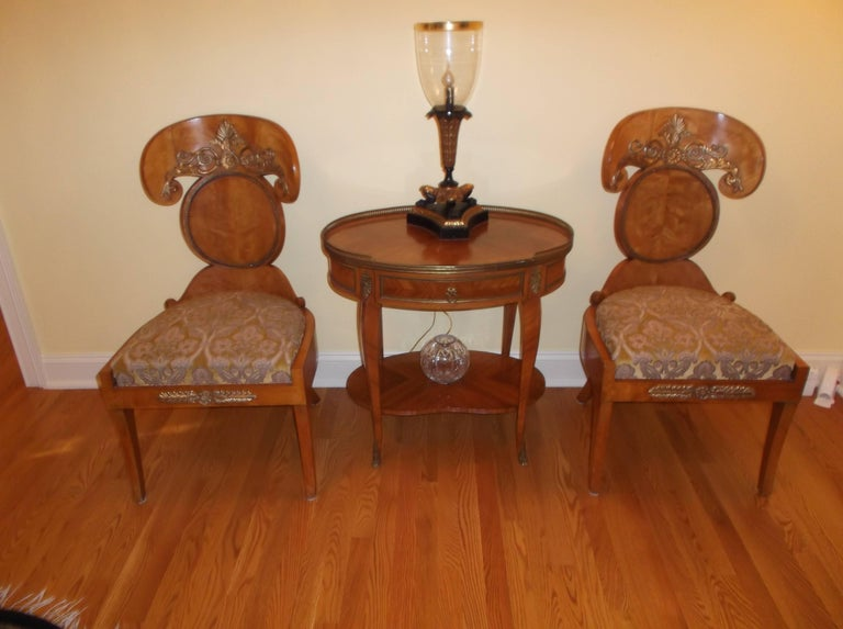 Birch Set of Four Baltic Empire Chairs For Sale