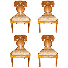 Set of Four Baltic Empire Chairs