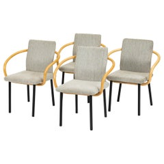 Set of Four of Ettore Sottsass for Knoll Bamboo Mandarin Chairs