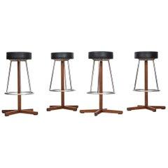 Set of Four bar stools by Dyrlund Smith in Denmark