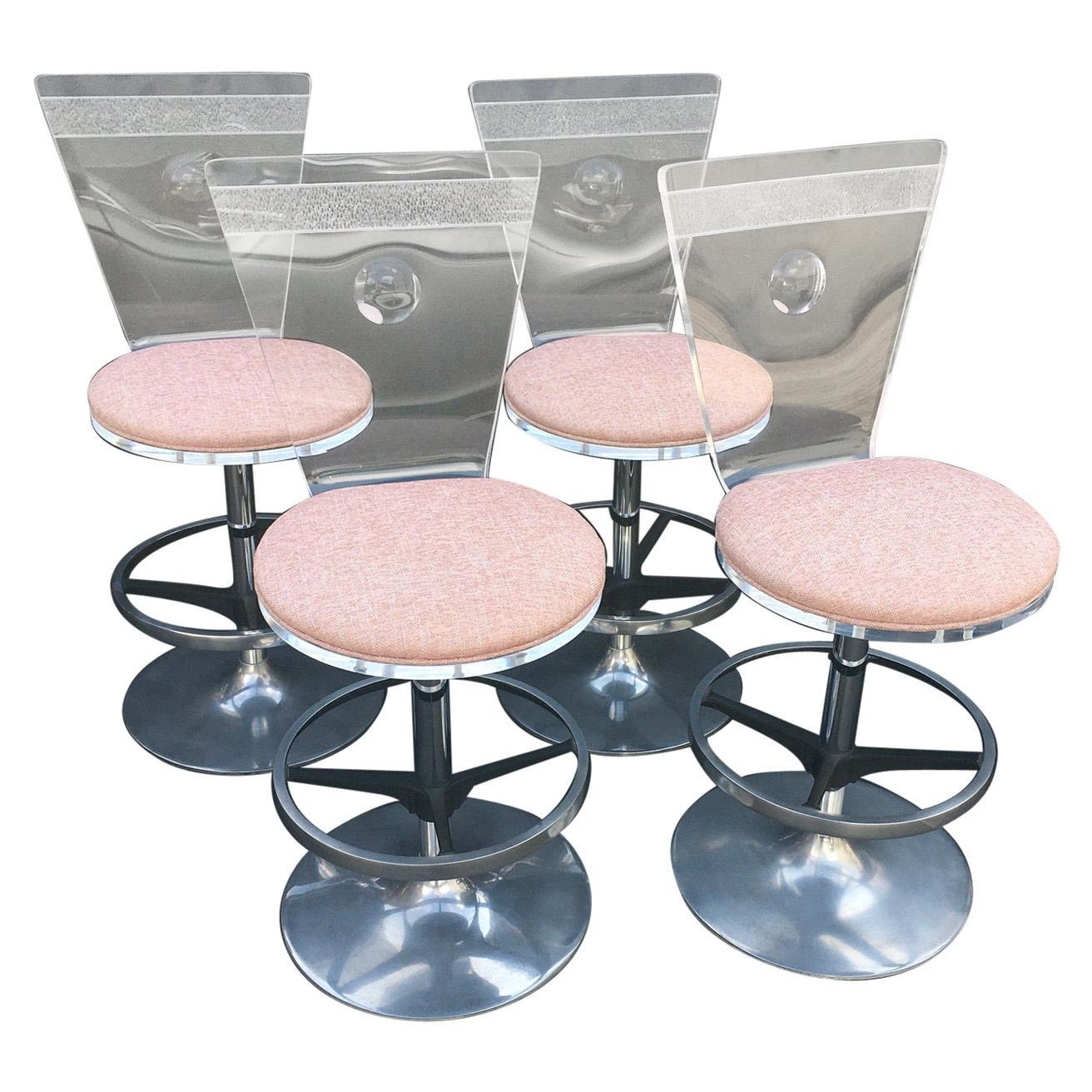 Set of Four Bar Stools