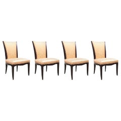 Set of Four Barbara Barry for Baker Furniture Upholstered Side Chairs
