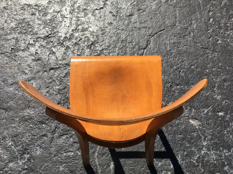 Set of Four Beautiful Bentwood Kitchen Dining Chairs, 1950s 5