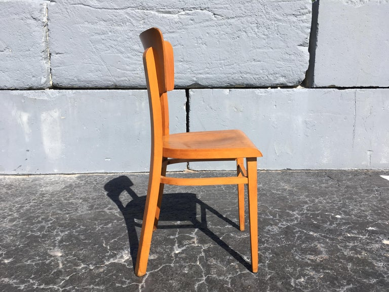 Set of Four Beautiful Bentwood Kitchen Dining Chairs, 1950s 7