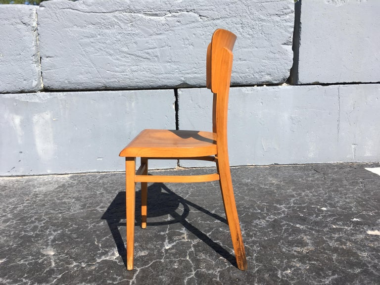 Set of Four Beautiful Bentwood Kitchen Dining Chairs, 1950s 8