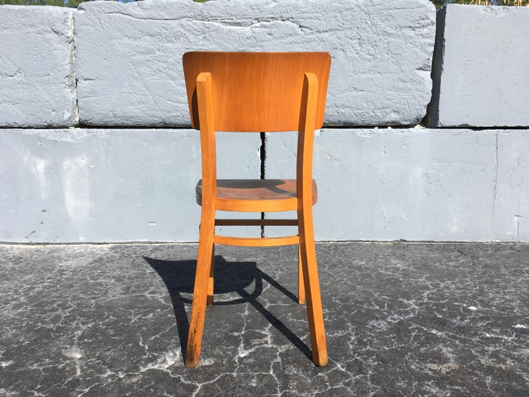 Set of Four Beautiful Bentwood Kitchen Dining Chairs, 1950s 10