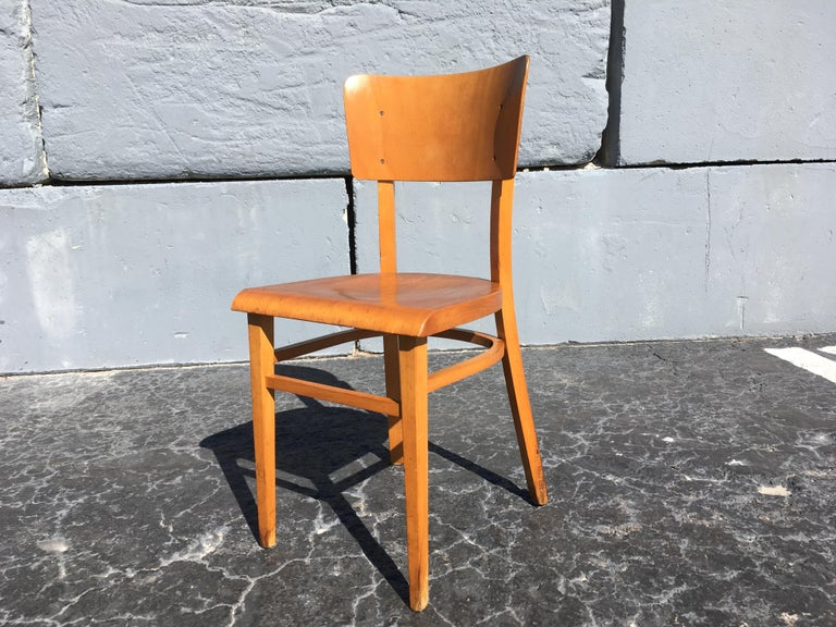Set of Four Beautiful Bentwood Kitchen Dining Chairs, 1950s 11