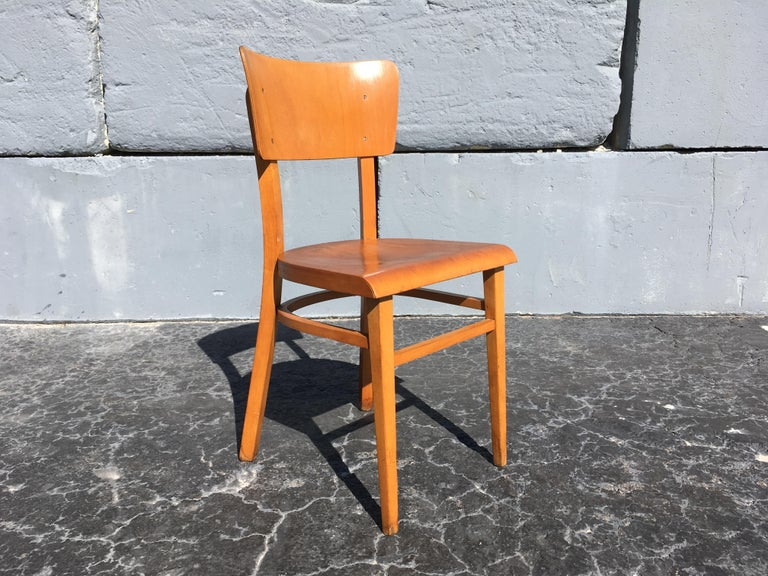 Set of Four Beautiful Bentwood Kitchen Dining Chairs, 1950s 12