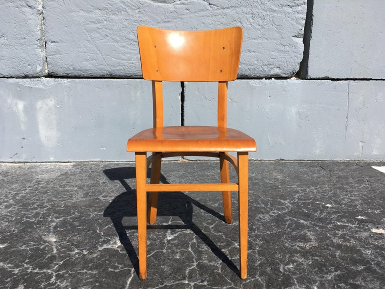 Set of Four Beautiful Bentwood Kitchen Dining Chairs, 1950s 13