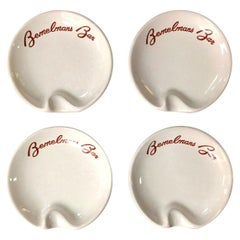 Set of Four Bemelmans Bar Ashtrays from the Carlyle Hotel, New York City