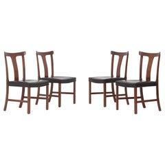 "Set of Four "" Benedikte "" Chair by Ole Wanscher"