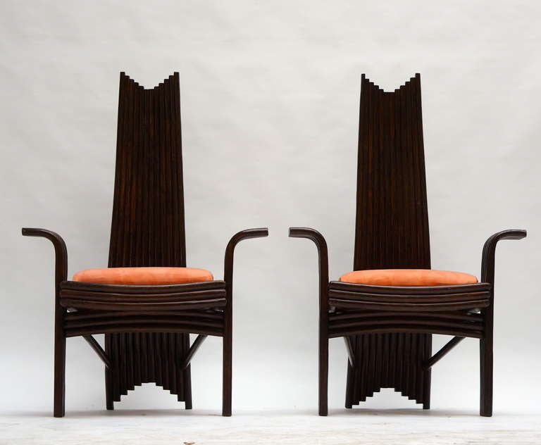 Set of Four Bentwood High Chairs For Sale 3
