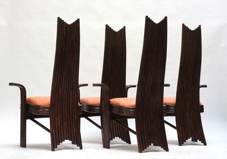Italian Set of Four Bentwood High Chairs For Sale